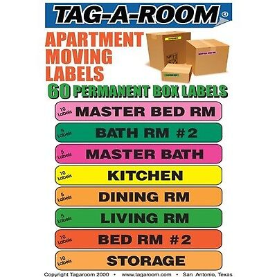 Apartment Moving Labels Identify Box Contents with 60 Moving Box Labels Suppl...