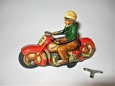Vintage Schuco Curvo 1000 Wind-Up Motorcycle - Made In Us Zone Germany C. 1950