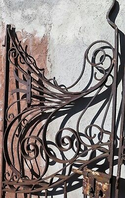Incredible Pair of Antique French Wrought Iron Gates  - 1870-80's