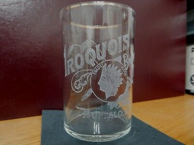 PRE PRO etched beer brewery GLASS Iroquois Brewing Co., Buffalo, New York NY