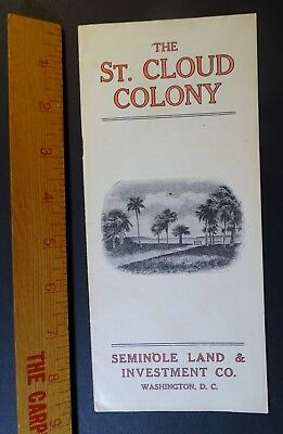 RARE Advertising Booklet St Cloud Colony Florida Shakers GAR Civil War Vets 1910