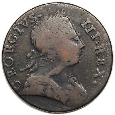 1773 Contemporary Non-Regal Great Britain Halfpenny, George III, nice F-VF