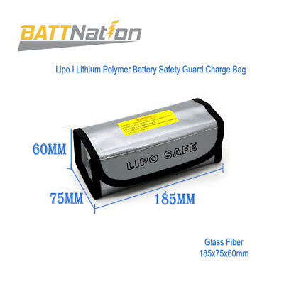 Fireproof Explosionproof Lipo Battery Safe Guard Bag for Charging 165x90x60mm