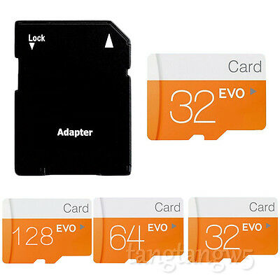 Lot 32GB 64GB 128GB Micro SD TF Flash Memory Card + SD Adapter for Camera Phone