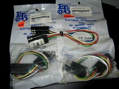 "Lot of 3 ETS B1206S 12"" Connectors 6 Square, Male RV Marine Auto Towing"