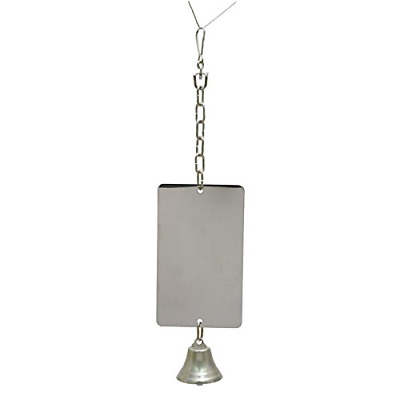 Giant Mirror With Bell - Pet Bird Toy