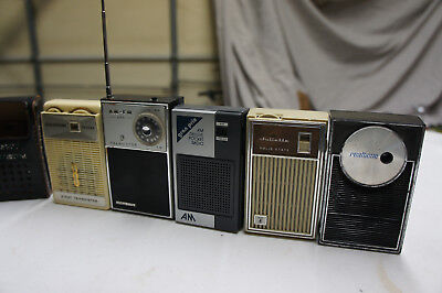 Vintage Collection of Hand Held Radios (Realtone-Juliette-Grand Prix-AFC-GoldTon