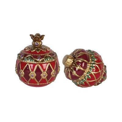 Fitz and Floyd  Renaissance Holiday Lidded Box, Set of 2  #49-671  New In Box