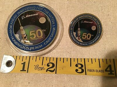 Boeing Huntington Beach Commemorative 50-Year Coin and Pin Set
