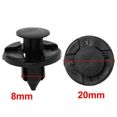 10pcs Car Black Rivet Fastener Mud Flaps Bumper Fender Push Clips 8mm For Nissan