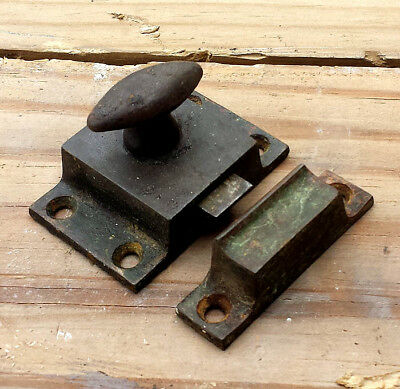 3 availble Antique Vintage Cast Iron Cabinet Cupboard Furniture Door Lock Keeper