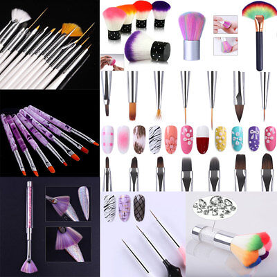UV Gel Nail Art Brushes Polish Painting Pen Acrylic Liner Drawing  Salon