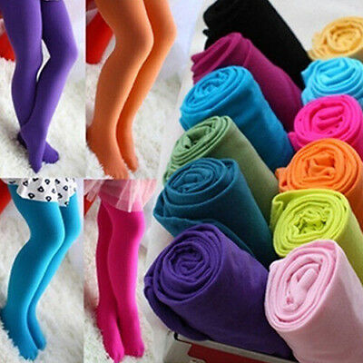 Girls Kids Tights Color Pantyhose Stockings Stretch Velvet Ballet Socks US Stock