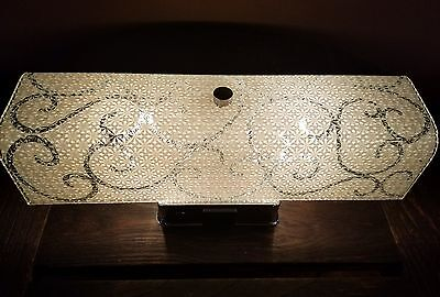 Vintage Art Deco Medicine Cabinet Light Fixture w/ Power Outlet