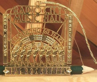 Radio City Music Hall The Rockettes Celebrating 60 Years Brass Ornament 1992