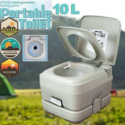2.8 Gallon 10L Portable Toilet Potty Flush Removable Camping Outdoor/Indoor HDPE