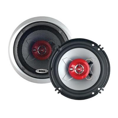 BOSS Chaos Exxtreme CH1623 300-Watt 6.5in 3-Way Red Automotive Speakers(CH1623)