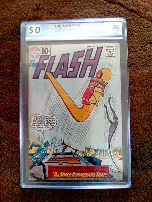 THE FLASH #124  -  1961...PGX  5.0  VG/FINE...2nd CAPT. BOOMERANG