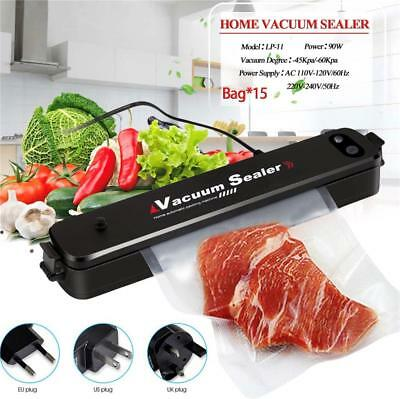 Vacuum Food Sealer Automatic Home Sealing System Plus 100 Extra Bags