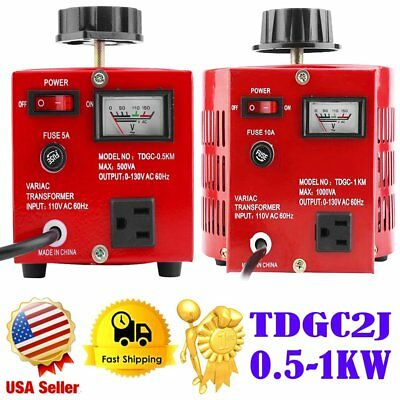 0.5KW 1KW Variac AutoTransformer Variable AC Voltage Regulator Metered 0-130V MX