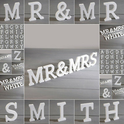 Mr & Mrs'' ''LOVE''White Wooden Letters Wedding Home Party Table Sign Decoration