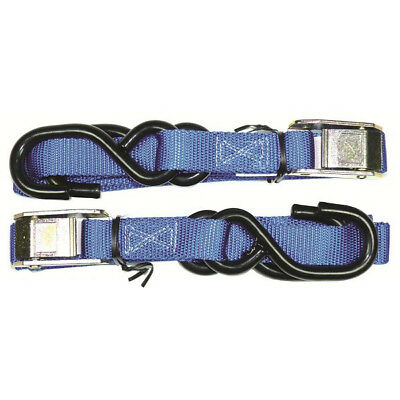 MCS NEW Mx 25mm Blue Soft Hook Motorcycle Motocross Dirt Bike Tie Down Straps