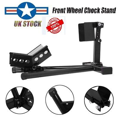 Motorcycle Front Stay Wheel Chock Paddock Garage Stand Motorbike For 15-21 Inch