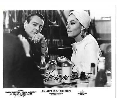 B & W,  8 x 10 signed photo-Kevin McCarthy in An Affair of the Skin