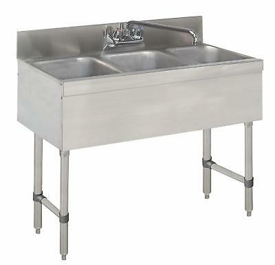 Advance Tabco Special Value 3 Compartment Stainless Steel Underbar Sink