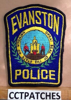 Evanston, Wyoming Police Shoulder Patch Wy Used