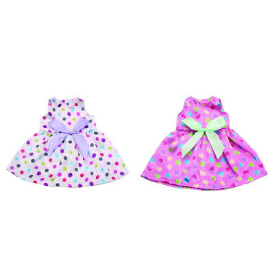 2piece Doll Clothes for 18 Inch American Girl Doll Dress Skirt Shoes Costume