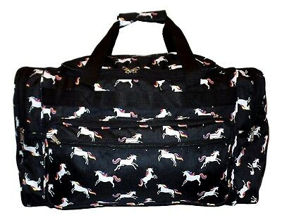 "SD22 22"" Large Duffel Zipper Gym Dance Carry On Travel Bag (Unicorn Print)"
