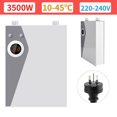 Tankless Electric Hot Water Systems Instant Heating Under Sink Tap Faucet Bath