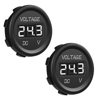 12V-24V Digital Voltage Meter Display Voltmeter White Color LED Liigh Waterproof