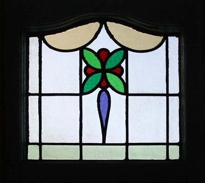 Pretty English Art Deco Stained Glass Window