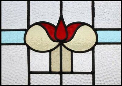 Pretty Art Deco Tulip Stained Glass Window