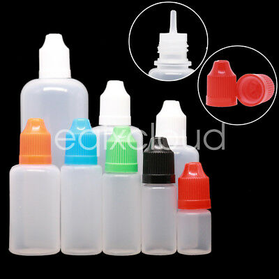 Wholesale Dropper Bottle Squeezable LDPE Childproof Cap Tip Liquid Ejuice Empty