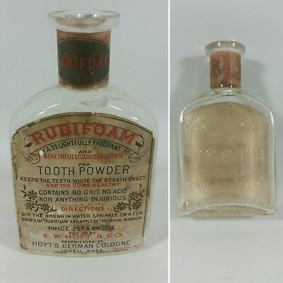 Rubifoam For The Teeth Put Up By E.w.hoyt & Co. Lowell Mass.