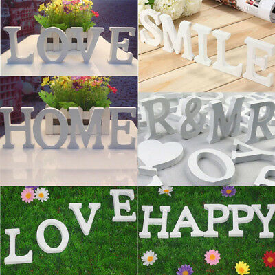 26 Wooden Freestanding Letters Alphabet Words Wedding Party Home Art Decorations