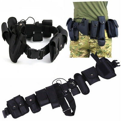 Police Security Guard Modular Enforcement Equipment Duty Belt Tactical Nylon UK