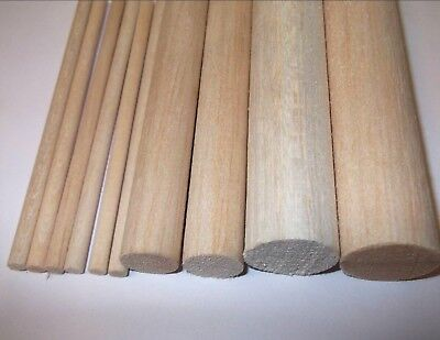 30cm - 300mm Wooden balsa dowels. Arts. Crafts. Models 5mm 6mm 8mm 10mm - 25mm