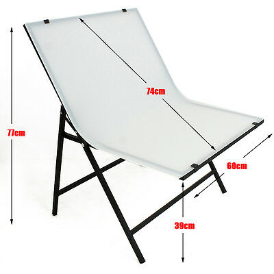 Photo Studio Display Shooting Table Foldable Non-Reflective PVC Light Panel New