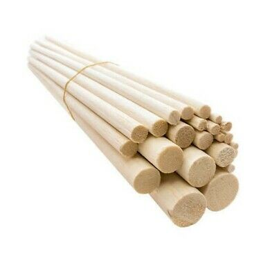 "4"" Inch wooden balsa dowels. Stick. Crafts. Models. 3/16 1/4 5/16 3/8 1/2 - 1"""