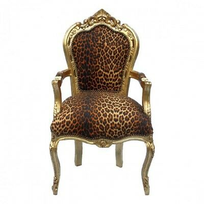 Leopard print carver dining chair for your dining table
