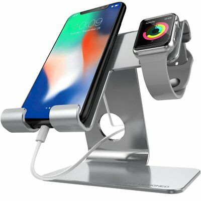Universal 2 in 1 Cell Phone Tablet Stand,ZVE Aluminium Apple Iwatch Charging for