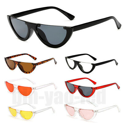 Retro Vintage Women's Fashion Half Frame Sun Glasses Cat Eye Eyewear Sunglasses