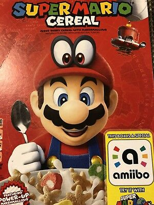 Kellog's SUPER MARIO ODYSSEY CEREAL Limited edition BOX ONLY