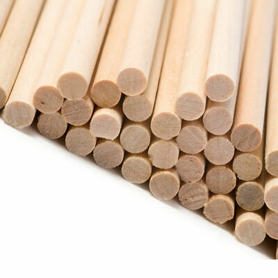 "12"" hardwood dowels. Stick tree. Arts crafts models. 3/16 1/4 5/16 3/8 1/2 - 1"""