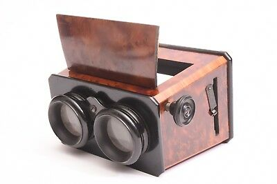 Wooden Stereoviewer for glass  stereo view format 6x13 cm. Circa 1880.