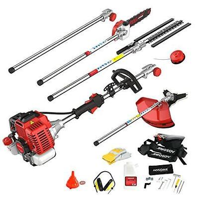 AOSOME 52CC Petrol Multi Function 5 In 1 Garden Tool - Hedge Trimmer, Strimmer,